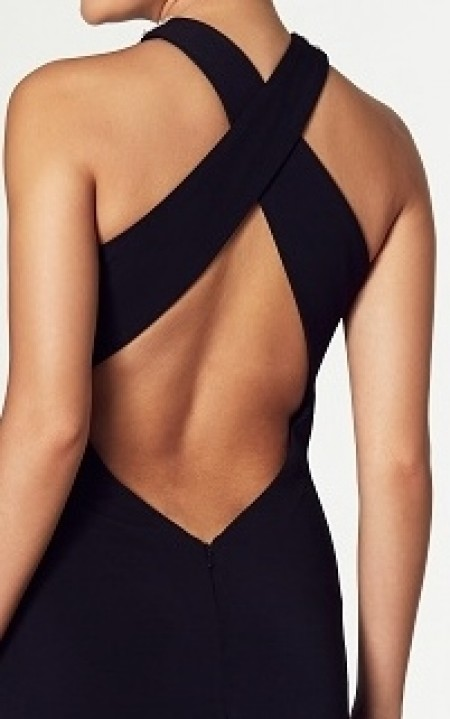 REDUCED - Backless, jersey, halter neck, prom/leavers' ball dress